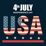 USA independence day poster. Vector illustration design Royalty Free Stock Photo