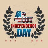 USA independence day poster. Vector illustration design Royalty Free Stock Photos