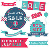 USA Independence Day Sale Royalty Free Stock Images