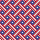 USA Independence day seamless pattern. Vector seamless texture for print or mobile projects Royalty Free Illustration