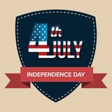 USA independence day shield. Vector illustration design Royalty Free Stock Photos
