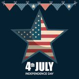 USA independence day star. Vector illustration design Stock Photography