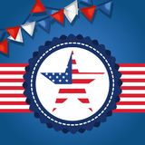 USA independence day star. Vector illustration design Stock Image
