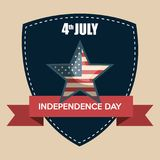 USA independence day star. Vector illustration design Royalty Free Stock Photography