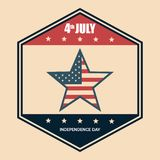 USA independence day star. Vector illustration design Royalty Free Stock Photo
