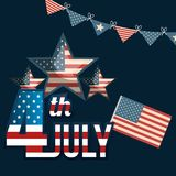 USA independence day star. Vector illustration design Royalty Free Stock Photos