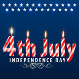 USA Independence day, 4th of July, Fourth of July (vector Art) Royalty Free Stock Photos