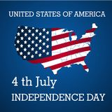 USA Independence Day, 4th of July vector background with stripes and stars.  Royalty Free Stock Images