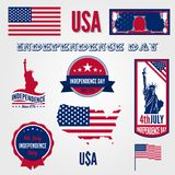 USA Independence day vector design template elemen Royalty Free Stock Photography