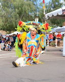 USA: Indianischer/Fantasie-Feder-Tänzer - Porträt Stockbilder