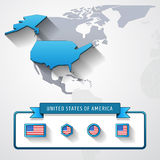 USA info card Royalty Free Stock Image