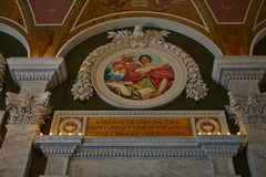 USA. Interior of the Library of Congress in DC - USA Royalty Free Stock Photography