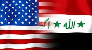 Usa-Irag Flag Royalty Free Stock Images