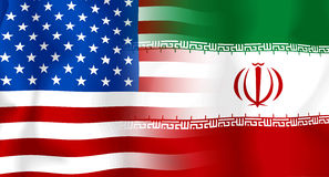 Usa-Iran Flag Stock Photography