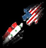 Usa Iraq Peace Puzzle. / A Possible Dream / Hight Quality Vector Illustration