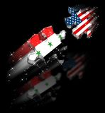 Usa Iraq Peace Puzzle. Shadow & Stars / A Possible Dream / Hight Quality Vector Illustration