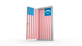 USA Islam Flag Illustration Royalty Free Stock Image