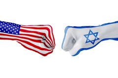 USA and Israel flag. Concept fight, business competition, conflict or sporting events Stock Images