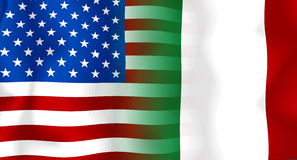Usa-Italy Flag Royalty Free Stock Photos