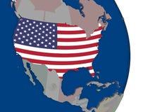 USA with its flag Stock Image