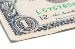 USA jeden dolarowego rachunku zbliżenie makro-, 1 usd banknotu, George domycie Zdjęcia Royalty Free