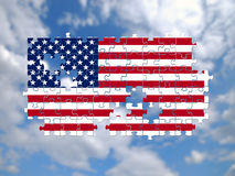 USA Jigsaw pattern Royalty Free Stock Images