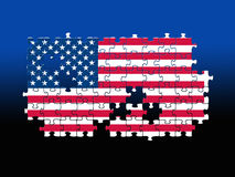 USA Jigsaw pattern Royalty Free Stock Photo