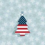 USA-julgarnering royaltyfri illustrationer