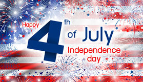 USA 4 july independence day design of america flag with firework. S background Royalty Free Stock Photography