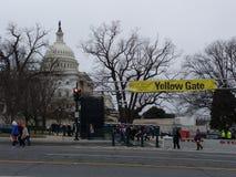 USA-Kapitoliumbyggnad, 58th presidents- invigningingångsport, invigning av Donald Trump, mars för kvinna` s, Washington DC, USA Arkivbilder