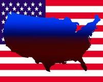 USA-Karte Lizenzfreies Stockfoto