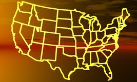 USA-Karte stockfotografie