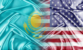 USA and Kazakhstan Royalty Free Stock Images