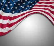 USA kennzeichnen auf Grau Stockfotos