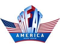 USA kennzeichnen machen Amerika großes wieder stolzes Patriotismus-Wort Visualiz Stockfotografie