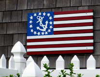 USA kennzeichnen mit Anker Stockbild