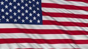 USA kennzeichnen sich entwickelt langsam im Wind stock video footage