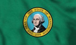 USA kennzeichnen von Washington, das leicht in den Wind wellenartig bewegt stock abbildung