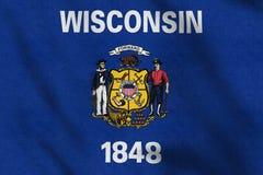 USA kennzeichnen von Wisconsin, das leicht in den Wind wellenartig bewegt vektor abbildung