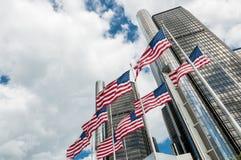 USA kennzeichnen in vorderem Ren CEN Stockbild