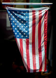USA kennzeichnen während der Siegzeremonie Stockfotografie