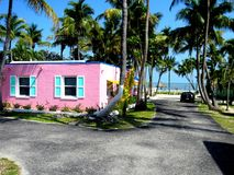 USA, Key West, Pink House on Beach royalty free stock photography