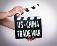 USA - Kina handelkrig arkivbild
