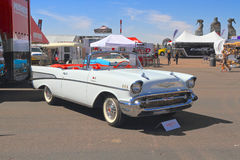USA: Klassisches Motor- Chevrolet 1957 Bel Air Convertible lizenzfreie stockfotografie