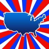 USA kontur Zdjęcia Royalty Free