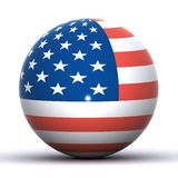 USA-Kugel Lizenzfreie Stockfotos