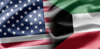 USA and Kuwait Stock Photography