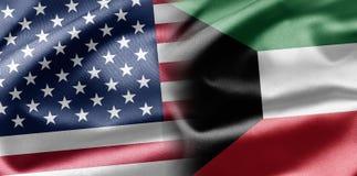 USA and Kuwait stock illustration