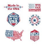 USA labels with grunge effect Royalty Free Stock Images