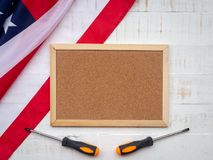 USA Labor day concept, First Monday in September. Different kind royalty free stock photography